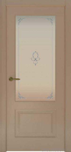 Дверь Provence 2 (мокко, стекло белое Виола)