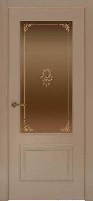 Дверь Provence 2 (мокко, стекло бронзовое Виола)