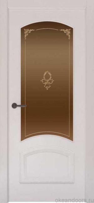 Дверь Provence 4 (белая эмаль, стекло бронзовое Виола)