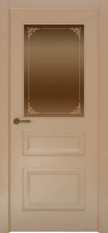 Дверь Provence 3 (капучино, стекло бронзовое Виола)