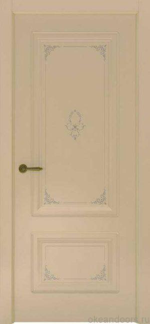 Дверь Океан Provence 2 Flora (слоновая кость, глухая)