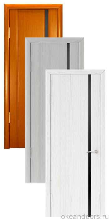 Коллекция дверей Океан Шторм-1 (10 цветов, черное стекло)