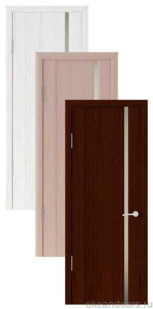 Коллекция дверей Океан Шторм-1 (10 цветов, белое стекло)