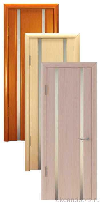 Коллекция дверей Океан Шторм-2 (10 цветов, белое стекло)