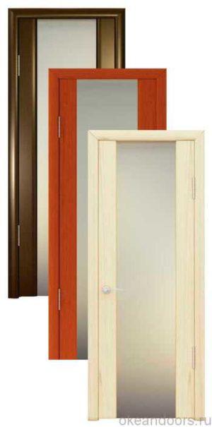 Коллекция дверей Океан Шторм-3 (10 цветов, белое стекло)