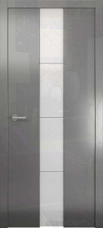 Avorio-5 (глянец графит / стекло белое)