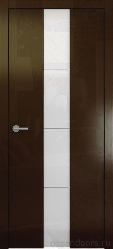 Avorio-5 (глянец винтаж / стекло белое)