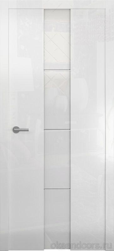 Avorio-5 белое глянцевое (стекло белое)