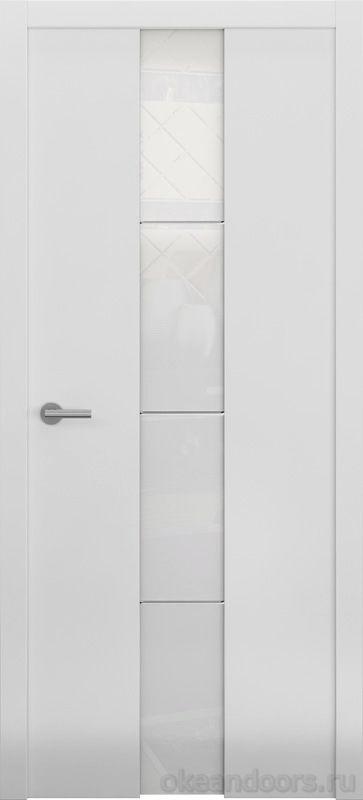 Avorio-5 белая матовая (стекло белое)