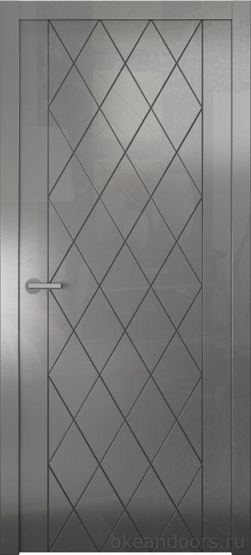 Avorio-6 (графит глянец, дизайн полотна Diamond)