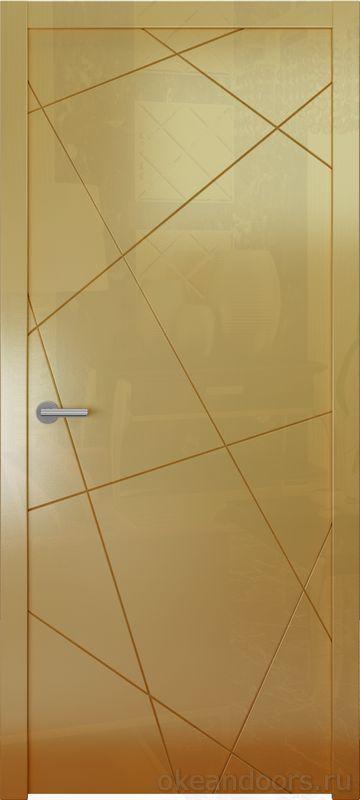 Avorio-6 (мокко глянец, дизайн полотна Line)