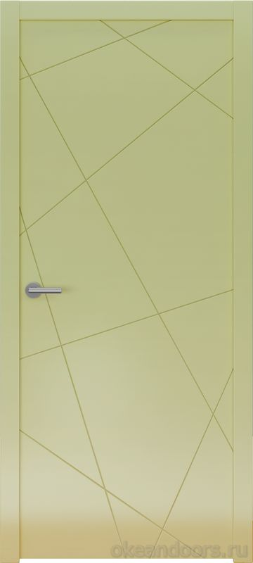 Avorio-6 (кремовое матовое, дизайн полотна Line)