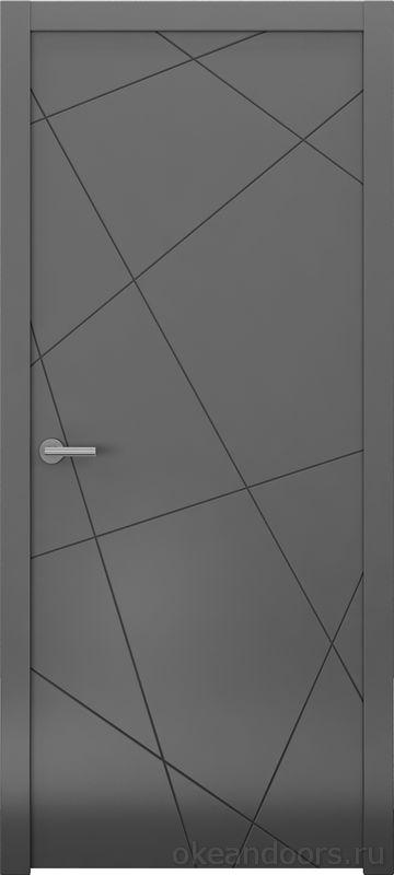 Avorio-6 (графит матовое, дизайн полотна Line)