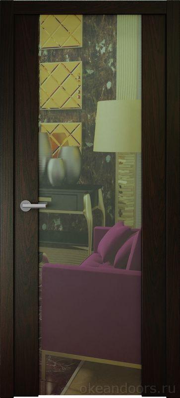 Avorio-7 (шпон дуб браун, зеркало)
