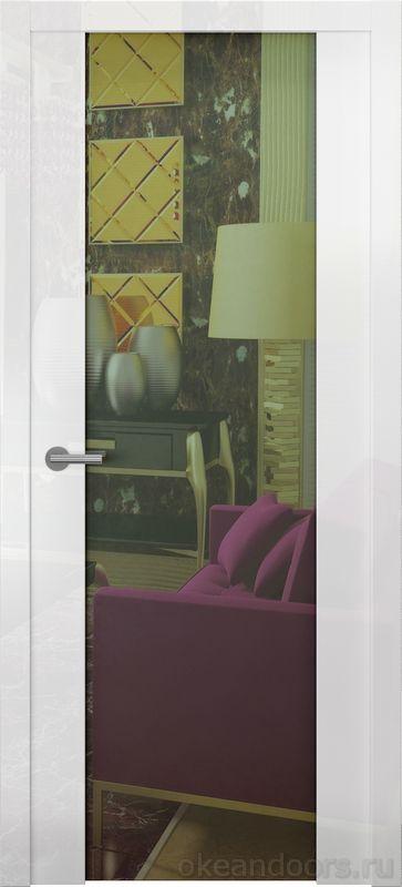 Avorio-7 (белое глянец, зеркало)