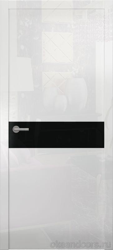Avorio-9 (белое глянцевое / 9 цветов, глянец / черная стеклянная вставка)