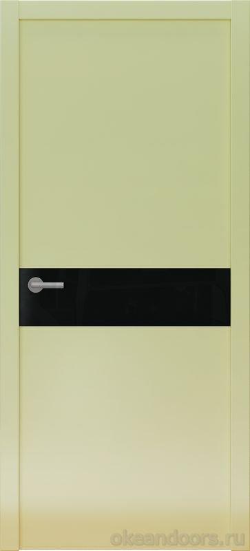 Avorio-9 (кремовое матовое / 9 цветов, глянец / черная стеклянная вставка)
