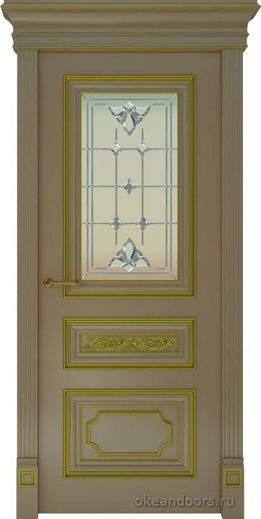 Dinastia-2 (стекло Классика, капучино, патина золото)