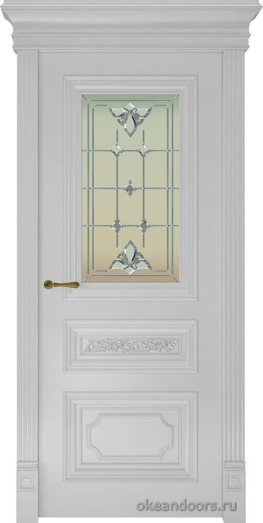 Dinastia-2 (стекло Классика, белая)