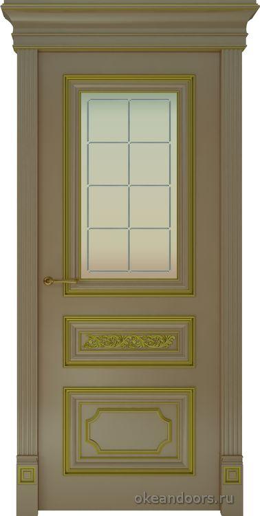 Dinastia-2 (стекло Решетка, мокко, патина золото)