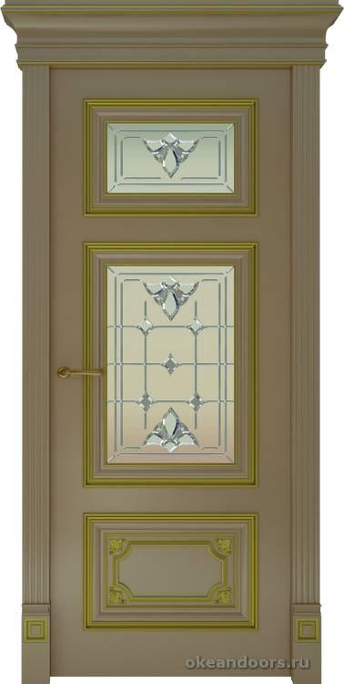 Dinastia-3 (стекло Классика, мокко, патина золото)