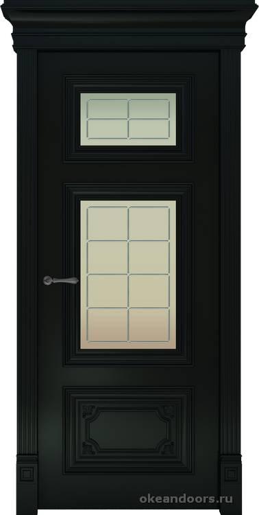 Dinastia-3 (стекло Решетка, черный)