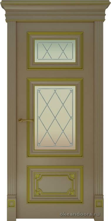 Dinastia-3 (стекло Ромб, мокко, патина золото)