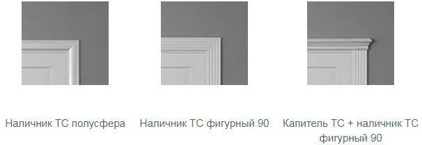 Варианты обрамления дверей Optima