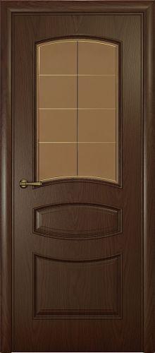 Milano-2, натуральный дуб шоколад, стекло бронза решетка