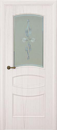 Milano-2, ясень белый жемчуг, стекло белое агата