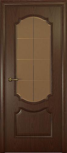 Milano-3, дуб натуральный шоколад, стекло бронза решетка