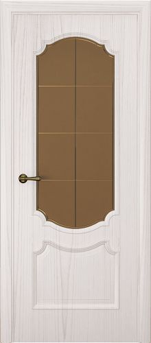 Milano-3, ясень белый жемчуг, стекло бронза решетка