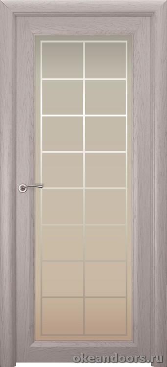 Optima 1 натуральный дуб серый, стекло белое Решетка
