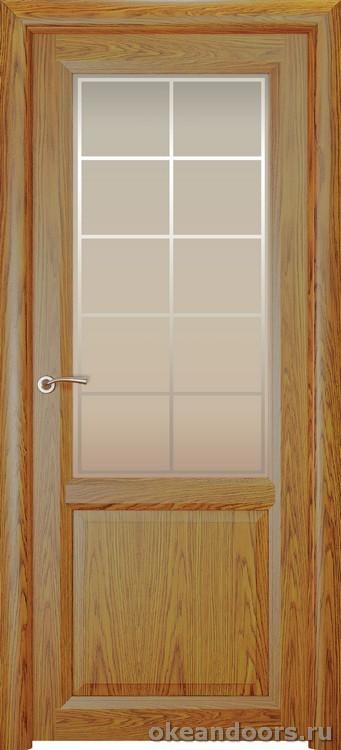 Optima 2, натуральный дуб золотой, стекло белое Решетка