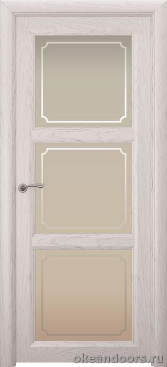 Optima 3, натуральный дуб белый жемчуг, стекло белое Рамка