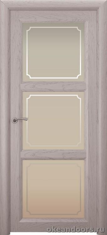 Optima 3, натуральный дуб серый, стекло белое Рамка