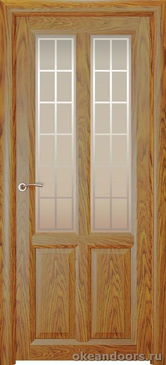 Optima-4, натуральный дуб золотой, стекло белое Решетка