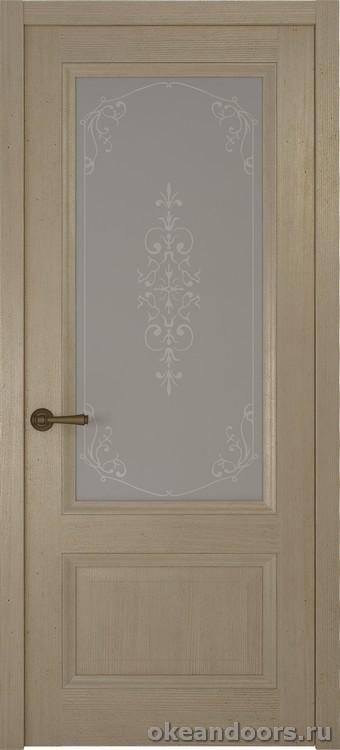 Riva classica, дуб натуральный стекло белое Флер