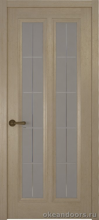 Riva Classica 3, дуб натуральный, стекло с гравировкой Решетка