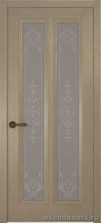 Riva Classica 3, дуб натуральный, стекло белое Флер