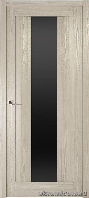 Riva Moderno 2 стекло черный триплекс, дуб пепельный