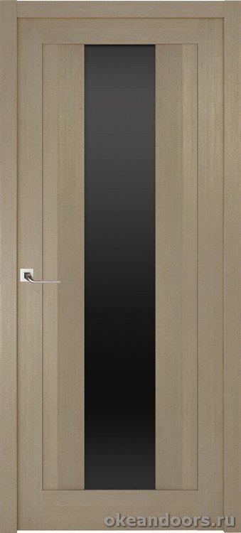Riva Moderno 2 стекло черный триплекс, дуб натуральный