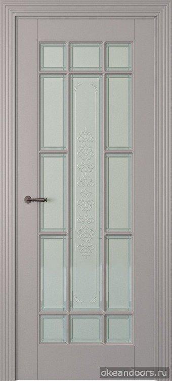 Toscana 5R, графит, эмаль, стекло белое Toscana