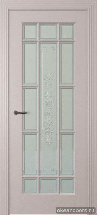 Toscana 5R, светло серый, эмаль, стекло белое Toscana